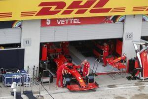 The car of Sebastian Vettel, Ferrari SF1000