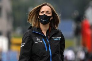 Claire Williams, Deputy Team Principal, Williams Racing arrives at the track