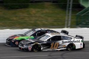 Aric Almirola, Stewart-Haas Racing, Ford Mustang Smithfield Vote For Bacon and Daniel Suarez, Gaunt Brothers Racing, Toyota Camry CommScope