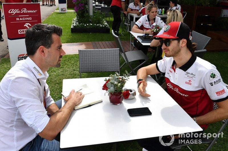 Antonio Giovinazzi, Alfa Romeo parla con la stampa