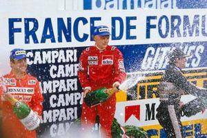 Niki Lauda, McLaren TAG Porsche, Patrick Tambay, Renault, Nigel Mansell, Lotus Renault