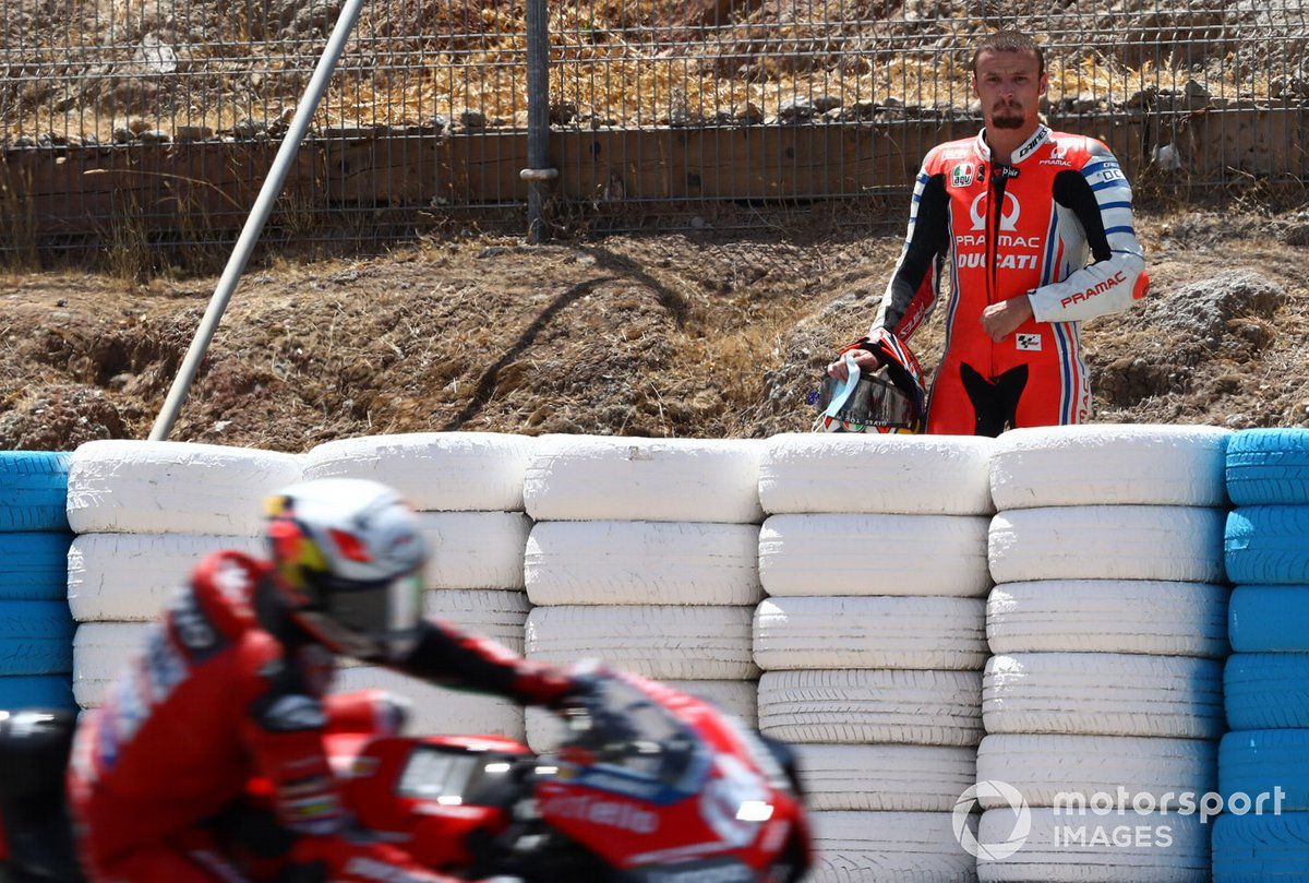 Jack Miller, Pramac Racing después de su caída