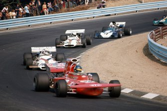 Ronnie Peterson, March 711 Ford, Howden Ganley, British Racing Motors P160, John Cannon, British Racing Motors P153, John Surtees, Surtees TS9A Ford