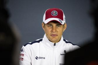 Marcus Ericsson, Sauber en la conferencia de prensa