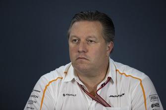 Zak Brown, McLaren Racing CEO in Press Conference