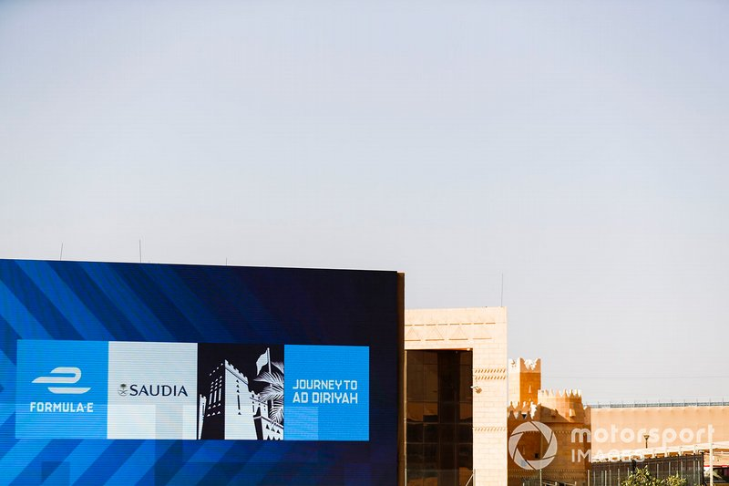 Saudia branding amongst local architecture
