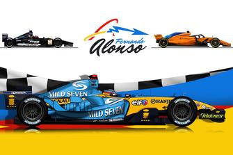 Die Formel-1-Autos von Fernando Alonso