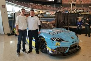 Driver Joey Gase and team owner Carl Long