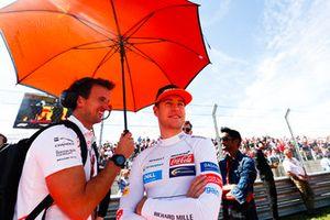 Stoffel Vandoorne, McLaren, op de grid