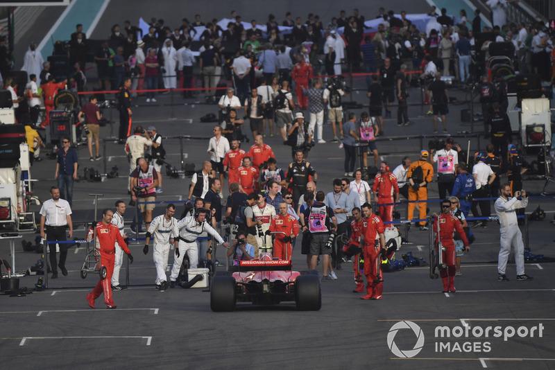 A start előtt - Abu Dhabi Nagydíj - F1 2018