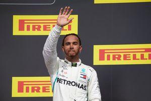Lewis Hamilton, Mercedes AMG F1, 3rd position, on the podium