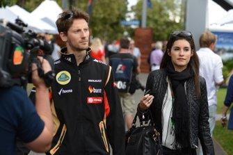 Romain Grosjean and wife Marion Jolles