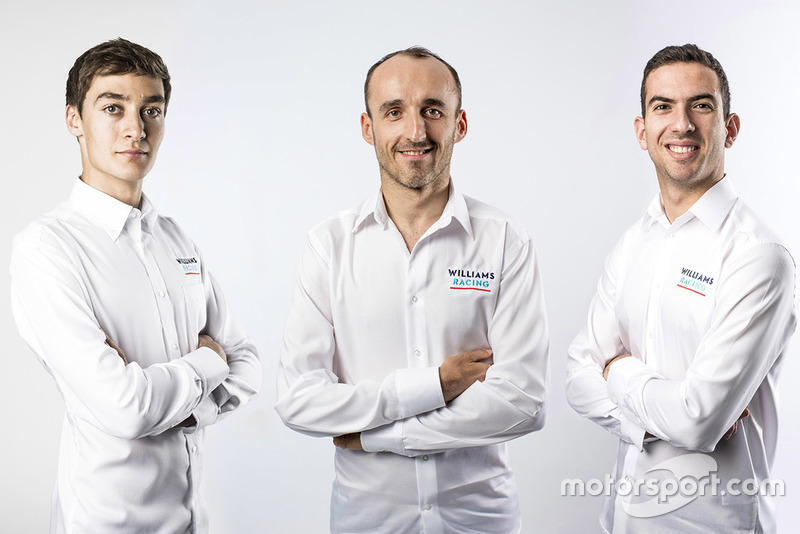 George Russell, Robert Kubica, Nicholas Latifi, Williams Martini Racing