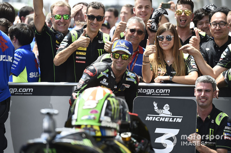 Il terzo classificato Johann Zarco, Monster Yamaha Tech 3