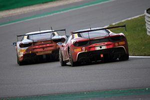 #2 Ferrari 488, Rossocorsa: David Fumanelli e #9 Ferrari 488, Formula Racing: Niklas Nielsen