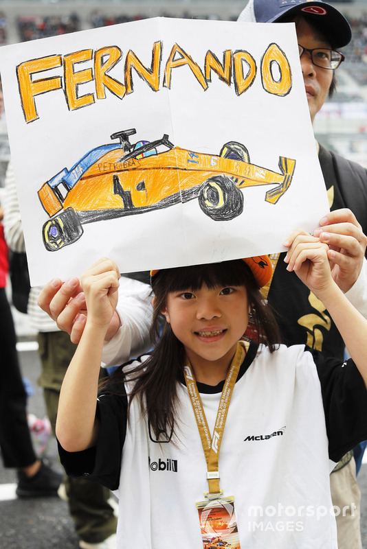 A young fan of Fernando Alonso, McLaren