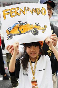 A young fan of Fernando Alonso, McLaren
