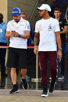 Fernando Alonso, McLaren and Lewis Hamilton, Mercedes AMG F1