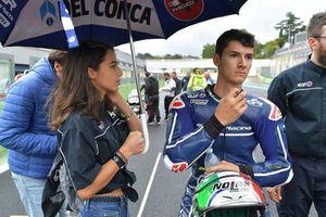 Luca Gresini, Gresini Racing Junior Team, in griglia di partenza