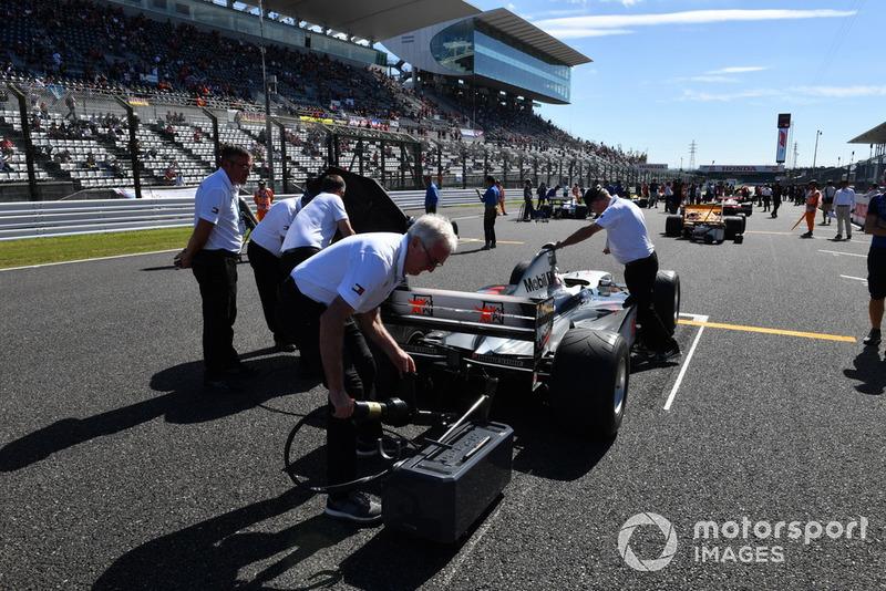 McLaren MP4-13, acara demonstrasi lap Perayaan Legenda F1 ke-30