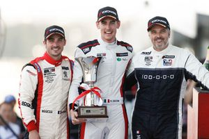 Podium: Race winner Kevin Ceccon, Team Mulsanne Alfa Romeo Giulietta TCR, second place Aurélien Comte, DG Sport Competition Peugeot 308TCR, third place Yvan Muller, YMR Hyundai i30 N TCR