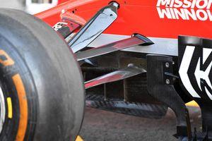 Ferrari SF71H front suspension and aero detail