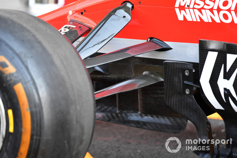 Ferrari SF71H front suspension and aero detail