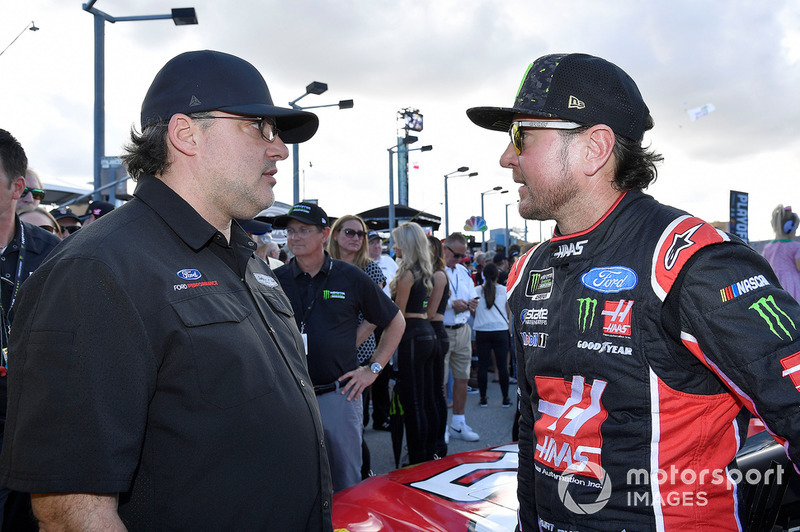 Kurt Busch, Stewart-Haas Racing, Ford Fusion State Haas Automation/Monster Energy and Tony Stewart