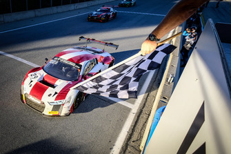 Race winner #29 Audi Sport Team Land Motorsport Audi R8 LMS: Christopher Haase, Kelvin van der Linde, Christopher Mies