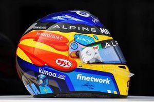 Casco di Fernando Alonso, Alpine