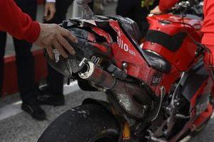 Jack Miller, equipo Ducati, moto accidentada