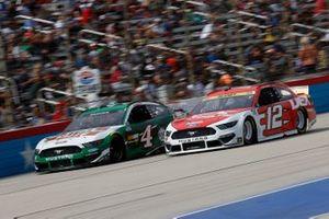 Kevin Harvick, Stewart-Haas Racing, Ford Mustang Hunt Brothers Pizza, Ryan Blaney, Team Penske, Ford Mustang DEX Imaging