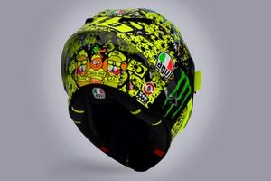 Special helmet of Valentino Rossi, Petronas Yamaha SRT