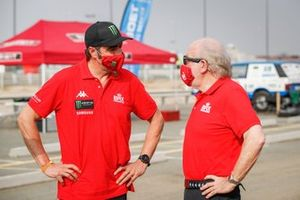 David Richards, Bahrain Raid Extreme Team director with Nani Roma