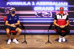 Nicholas Latifi, Williams and Antonio Giovinazzi, Alfa Romeo Racing at press conference