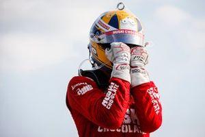 Marcus Ericsson, Chip Ganassi Racing Honda festeggia la sua prima vittoria