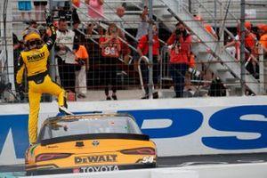 Race winner Christopher Bell, Joe Gibbs Racing, Toyota Supra