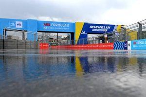 Track in the rain