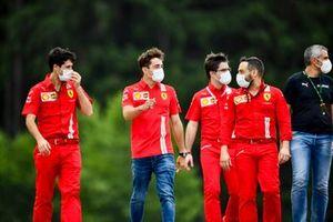 Charles Leclerc, Ferrari, marche sur la piste