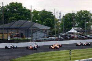 Graham Rahal, Rahal Letterman Lanigan Racing Honda, Scott Dixon, Chip Ganassi Racing Honda