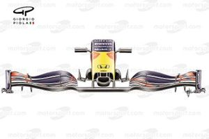 Red Bull Racing RB16B front wing of Max Verstappen