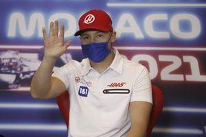 Nikita Mazepin, Haas F1, in conferenza stampa