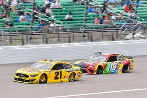 Matt DiBenedetto, Wood Brothers Racing, Ford Mustang Dickies/Menards, Kyle Busch, Joe Gibbs Racing, Toyota Camry M&M's Mix