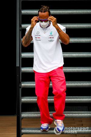 Lewis Hamilton, Mercedes in the paddock