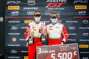 Podium: #52 AF Corse Ferrari 488 GT3: Louis Machiels, Andrea Bertolini