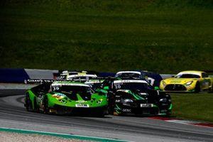 #63 GRT Grasser Racing Team Lamborghini Huracán GT3 Evo: Mirko Bortolotti, Albert Costa Balboa, #10 Schubert Motorsport BMW M6 GT3: Nick Yelloly, Jesse Krohn