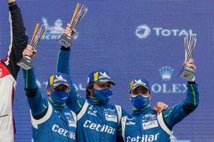 Podio: #47 Cetilar Racing Ferrari 488 GTE EVO: Roberto Lacorte, Giorgio Sernagiotto, Antonio Fuoco