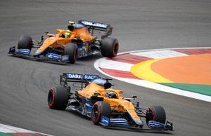 Даниэль Риккардо, McLaren MCL35M, Ландо Норрис, McLaren MCL35M