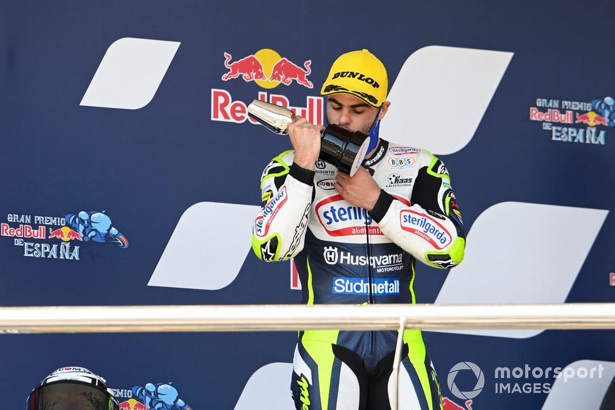 Podio: Romano Fenati, Max Racing Team