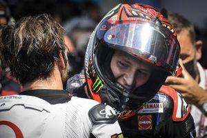 Ganador de la carrera Fabio Quartararo, Yamaha Factory Racing, Johann Zarco, Pramac Racing